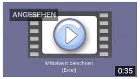 Link zu KurzVideo: Excel